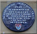 Photo of John Uppleby and Scarborough Art Gallery blue plaque