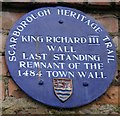 Photo of Richard III blue plaque