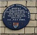 Photo of Robert Williamson and Valley Bridge blue plaque