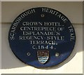Photo of Crown Hotel, Scarborough blue plaque