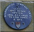 Photo of Cliff (Spa) Bridge blue plaque