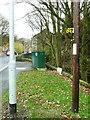SE0125 : Tour-de-France waymark, Cragg Road, Mytholmroyd by Humphrey Bolton