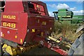 NS9888 : Machinery At Rest During Harvest by James T M Towill