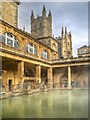 ST7564 : The Great Bath and Bath Abbey by David Dixon