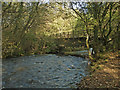 SS9287 : The River Ogmore by Pant-yr-awel by eswales