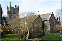 SW5937 : Gwinear church by Philip Halling