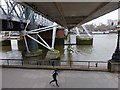 TQ3080 : Golden Jubilee Footbridge (downstream) by Oliver Dixon