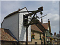 To the rear of The Fountain Inn is the steelyard, a device for weighing 