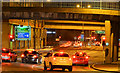 J3474 : Station Street traffic lights, (night view), Belfast by Albert Bridge