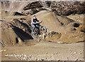 SW7442 : Mountain Biking among the Spoil Tips by Graham Loveland