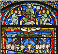 TR1557 : Stained glass window (Corona I), Canterbury Cathedral by Julian P Guffogg