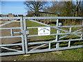 TL3377 : Entrance to Sheep Lane Farm by Marathon