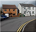 SO0201 : Houses at a bend in Bridge Road, Cwmbach by Jaggery