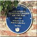 Photo of William Clarkson blue plaque