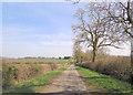 SP6335 : Un-named lane southwest of Huntsmill Farm by Stuart Logan