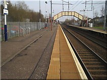 NS7659 : Holytown railway station, Lanarkshire by Nigel Thompson