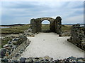 SH3862 : Ruins of Llanddwyn Chapel by Chris Heaton