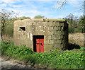 TG2733 : WW1 pillbox in Bradfield by Evelyn Simak