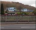 SS9596 : SE corner of Treorchy Comprehensive School by Jaggery