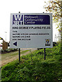 TQ0994 : Holywell Community Centre sign by Adrian Cable