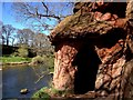 NY5638 : Lacy's Caves by the River Eden by John Darch