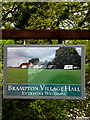 TM4382 : Brampton Village Hall sign by Adrian Cable