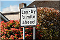 """D0903 : """"Lay-by ahead"""" sign, Ballymena - """"Worboys"""" and """"pre-Worboys"""" comparison by Albert Bridge"""