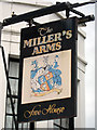 TQ8311 : Miller's Arms sign by Oast House Archive