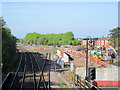 SO9669 : Construction Work, New Station Bromsgrove by Roy Hughes