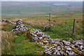 SD8669 : Ruined wall, Far Fell by Ian Taylor