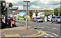 J3674 : Connswater bus stop (EWAY), Belfast - May 2014(1) by Albert Bridge