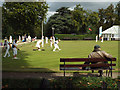 SP3165 : Passing time at the bowls, Victoria Park, Leamington by Robin Stott