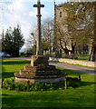 SO7406 : War Memorial Cross, Frampton on Severn by Jaggery