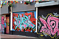 J3374 : Graffiti, Lower Garfield Street, Belfast - June 2014(2) by Albert Bridge