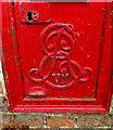 TL8146 : Royal Cypher on Cavendish Station Edward VII Postbox by Adrian Cable