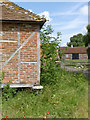 SU6385 : Staddle stone at Ipsden Farm by Alan Murray-Rust