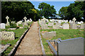 SW7625 : Overflow churchyard in Manaccan by Bill Boaden