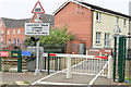 J2968 : The Meeting House level crossing, Dunmurry - July 2014(1) by Albert Bridge