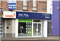 J3773 : AM|PM (estate agents), Ballyhackamore, Belfast (July 2014) by Albert Bridge