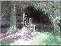 SE0845 : Footbridge north of Bucking Hill by John Slater
