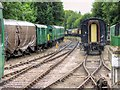 SU5832 : Watercress Line Sidings, Alresford Station by David Dixon