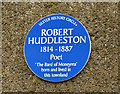 Photo of Robert Huddleston blue plaque
