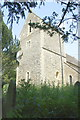 SP5825 : Tower of St Laurence's Church by Roger Templeman