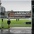 TQ2682 : Lord's: ground staff in the rain by John Sutton