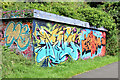 J3470 : Graffiti, Lagan towpath, Stranmillis, Belfast (August 2014) by Albert Bridge