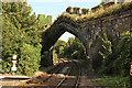 SH7877 : Railway arch through Conwy Town Walls by Richard Croft