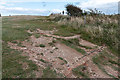 TV5895 : Remains of building on cliffs at Beachy Head, Sussex by Christine Matthews