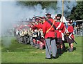 TQ8059 : Volley Fire at Detling Show ground by the Chosen Men : Week 34