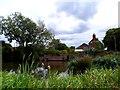 SP8619 : Wingrave pond by Bikeboy