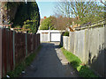 Dist:0.2km<br/>The way from Tudor Drive to a back alley for houses on Tudor Drive and Cardinal Avenue. Also it is a footpath through route between the two roads.